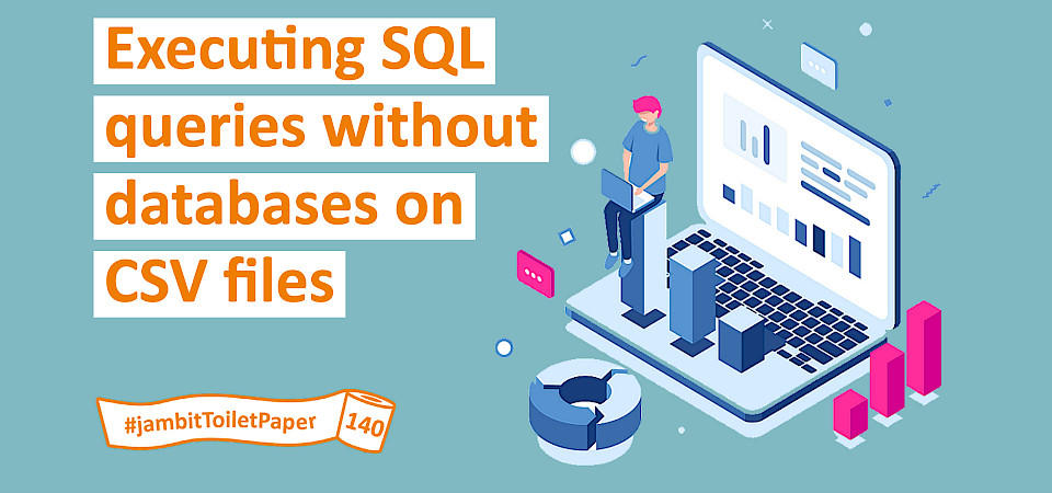 Executing SQL queries without databases on CSV files using q