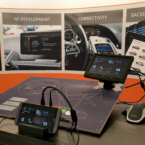 Automotive-Messestand von jambit