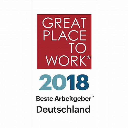 "GPTW #1: jambit officially awarded as ""Great Place to Work® 2018"""