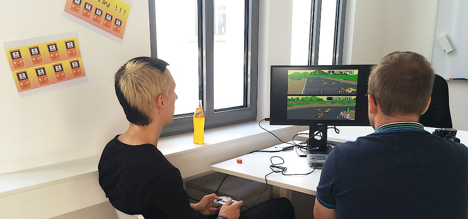 Leipzig office opening Mario Kart gaming
