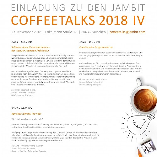 CoffeeTalks 4 2018