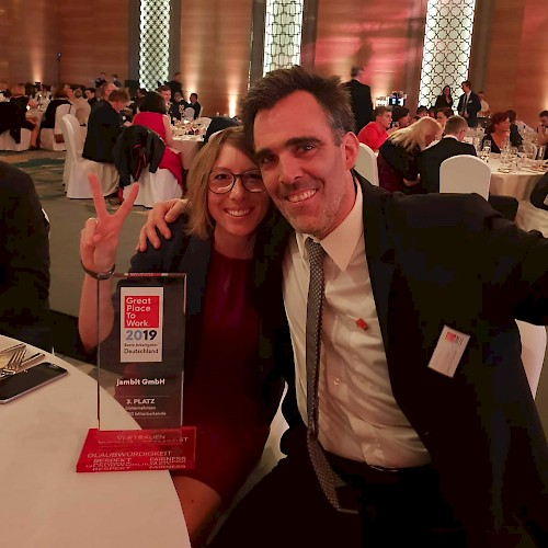 Hannah und Markus in Berlin bei Great Place To Work® Deutschland 2019